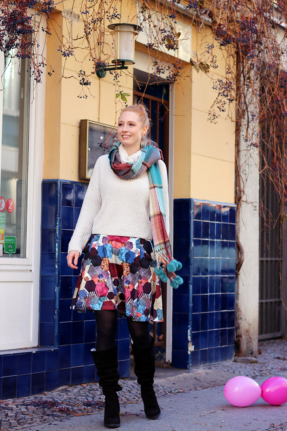 bunt, Muster-Mix, Winter Outfit, Mode, Winter Mode, Winter Look, Mode Blog, Modeblog, Berlin, Influencer, Finde deinen Stil, Advance Your Style, Modetipps